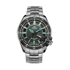 Casio EDIFICE EF130D-1A2 Analog Black & Blue Stainless Steel 100m Men's Watch