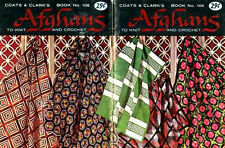 AFGHAN PATTERNS Knit CROCHET Greek Key ROSE BUD Cable LATTICE Carriage POSY
