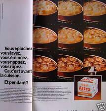 PUBLICITÉ 1974 ASTRA N'EST FAITE QUE POUR LA CUISSON - ADVERTISING