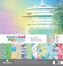 Paper House PARADISE FOUND-CRUISE Scrapbooking Kit-12x12 papers & stickers