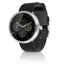 Motorola Moto 360 22mm Smartwatch for Android Devices 4.3 or Higher Black/S