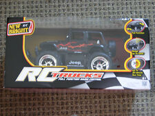 NEW RC Trucks Jeep Wrangler New Bright Full Function Remote 1688W-1 Black Red