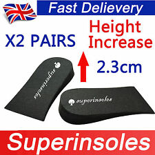 Superinsole 2 Paia Unisex Schiuma HEEL LIFT PAD Scarpa insoles-increase altezza