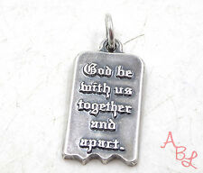 James Avery Sterling Silver Vintage Religious Tablet Charm Pendant (3.4g) 546954