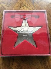 Macy's Believe Silver Star Ornament 2009 Excl. NEW MIB