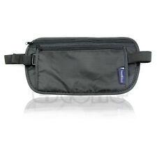 Unisex Travel Security Waist Belt Zipped Pouch Passport Money Bum Bag