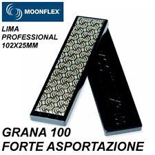 MOONFLEX LIMA PROFESSIONAL DIAMANTATA 102X25mm grana 100 per Lamine Sci Snowboar