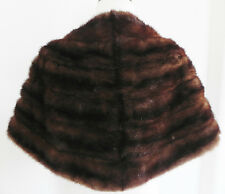 Vtg Hengerer's Mink Stole   Brown Tone Fur   Size Medium to Large   2 Pockets
