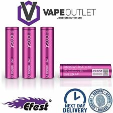 4x GENUINE EFEST 3000 MAH 35 AMP BATTERY LI-MN PURPLE 18650 IMR HIGH DRAIN VAPE