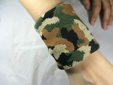 NEW MILITARY ARMY ELASTIC WRIST BAND SWEAT SPORTING GOODS S09