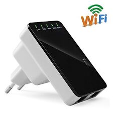 300Mbps Wireless-N Repeater Network Router WiFi Signal Range Extender Booster EU
