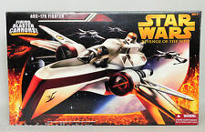ROTS ARC-170 FIGHTER SHIP Star Wars Revenge of the Sith FIRING CANNONS!_NRFB