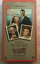 GUESS WHO'S COMING TO DINNER VHS Katherine Hepburn Spencer Tracy Sidney Poitier