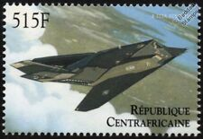 Lockheed F-117A Stealth Bomber Aircraft Stamp (2000 Central African Republic)