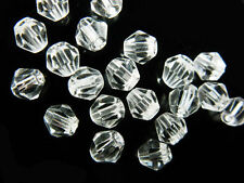 Bulk 50pcs Clear Glass Crystal Faceted Bicone Beads 6mm Spacer Jewelry Findings