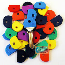 1 x COLOURED KEY CAP Top Head Cover ID Caps Ring Keyring Tab Protection