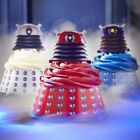 DOCTOR WHO 24 x Dalek Cake Wraps & Toppers -Muffin Cupcake Wrappers Dr Who Party