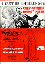 """A DAMSEL IN DISTRESS Sheet Music """"I Can't Be Bothered Now"""" Fred Astaire"""