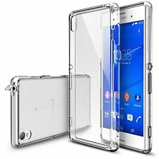 Sony Xperia Z3 Case Crystal Clear PC Back TPU Bumper Full Cover Shockproof