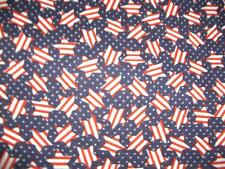 Patriotic Stars Stripes Polka Dots Red White Navy Blue Cotton Quilt Fabric BTY