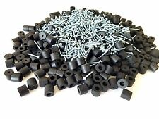 "Set of 100 Rubber Bumper Feet 1/2"" Dia x 7/16"" H + Screws,Metal Washer Built-In"