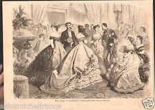 Fashion Mode Paris Costume Habit Robes Dresses Bals & Soirées GRAVURE PRINT 1866