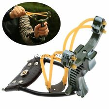 Camouflage Powerful Velocity Sniper Hunting Slingshot Catapult + Wrist Arm Rest