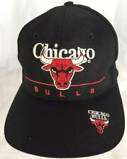 Chicago Bulls SnapBack Hat Cap Twins Label Embroidered Logos NBA Vintage