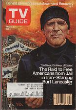 1986 TV Guide Burt Lancaster May 17-23