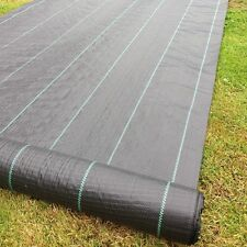 Yuzet 2m x 10m 100g Weed Control Ground Cover Membrane  Fabric Heavy Duty
