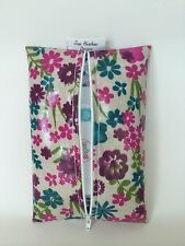 Baby Wipes wet wipes holder Case in pink flowered oilcloth