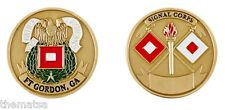 ARMY FORT GORDON SIGNAL CORPS CHALLENGE COIN