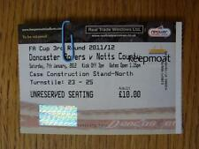 07/01/2012 Ticket: Doncaster Rovers v Notts County [FA Cup]