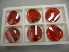 2 swarovski crystal 2-hole twist sew on stone,28mm red magma #3221