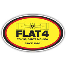 Flat 4 sticker aircooled beetle retro 113mm x 67mm