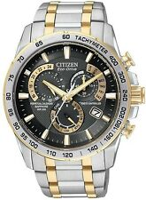 Citizen Mens Eco-Drive  AT4004-52E Two-Tone Perpetual Calendar Chronograph Watch