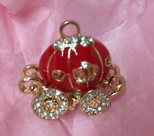 Red Cinderella Pumpkin Carriage Charm Embellishment Craft Jewellery Bow Making