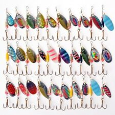 USA Lot 30 Pcs Assorted Spoon Metal Bass Fishing Lure Spinner Baits Crankbait