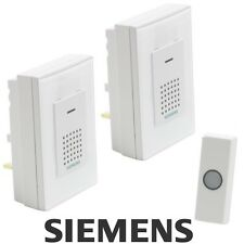 SIEMENS® Wireless Twin New Doorbell Trendy Chime Plug in Cordless 80 Metre #0598