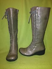 Grey Miz Mooz October Zip-Up Boots with Side Lace detail 6 36