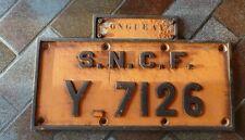 PLAQUE SNCF - Y. 7126