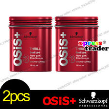 2x Schwarzkopf OSIS+ THRILL Fibre Elastic Gum Strong Control Hair Styling 100ml
