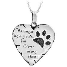 Paw Prints Forever in My Heart Necklace & Pendant Pet Cat Dog Lover