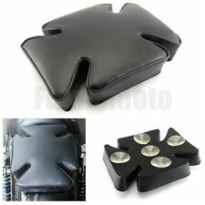 Pillion Cross Pad Seat 5 Suction Cup For Harley Dyna Sportster Softail Touring
