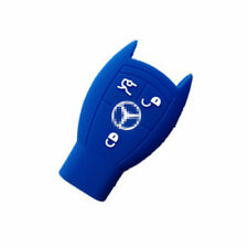 Blue Silicone Fob Skin Key Cover Key Protector Remote Keyless for MERCEDES BENZ
