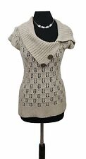 JANE NORMAN Jumper Size 10 Beige Casual Everyday Evening