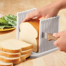 Bread Toast Slicer Loaf Sandwich Slicer Slice Cutter Mold Maker Slicing - White