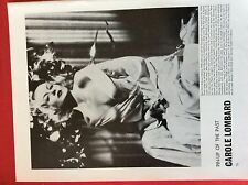 m6-9b ephemera 1970s film picture carole lombard pin up of the past