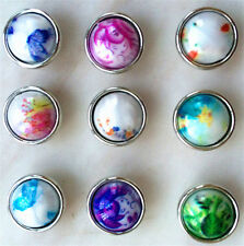 10pcs Randomly 12mm snaps Chunk Charm Button FIT For NOOSA Leather BraceletsDIY