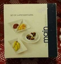 Appetizer Plates,Set of 3,The Main Ingredients, microwave/dishwasher safe